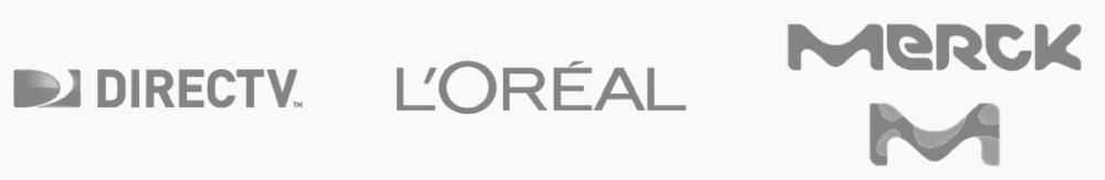 clientes xn consultores: directTV Loreal Merck