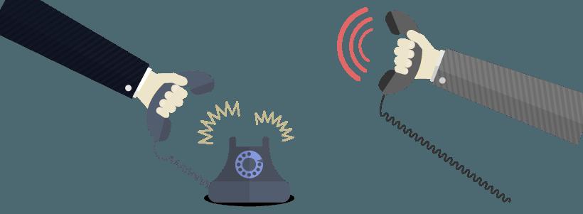 Telefonos antiguos y businessmen - todo comunica