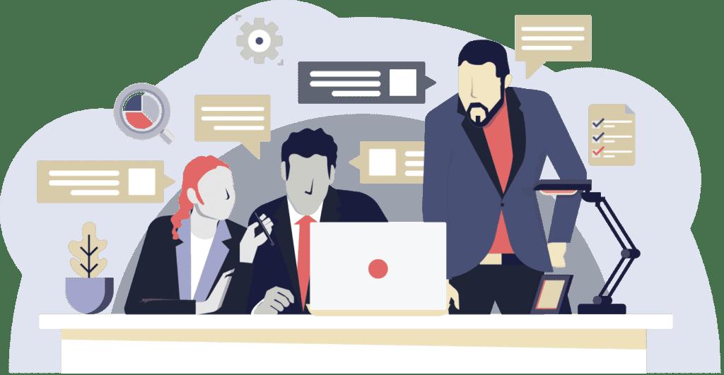 ilustracion gente armando un plan de accion - cómo armar un plan de acción