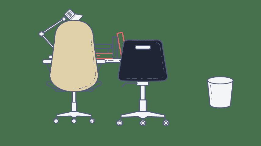 Ilustración de sillas de oficina - xn partners