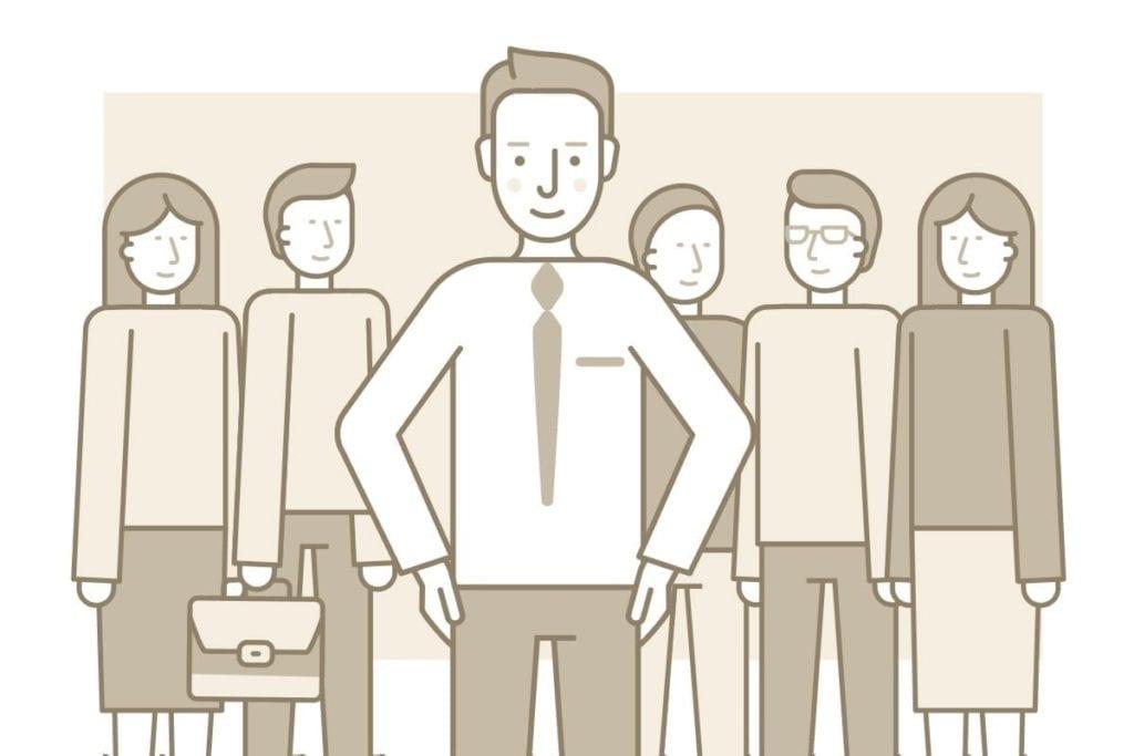 ilustración de lider - post dos pilares en gestión del desempeño