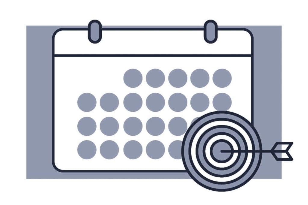 imagen de calendario de plan de acción